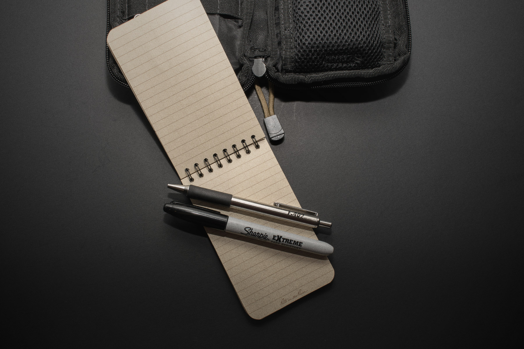 Everyday Carry Notebook and pen