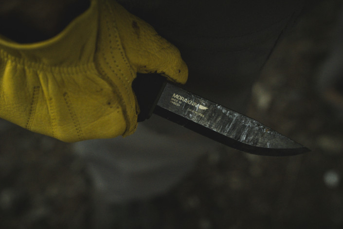 Mora Bushcraft Black Knife
