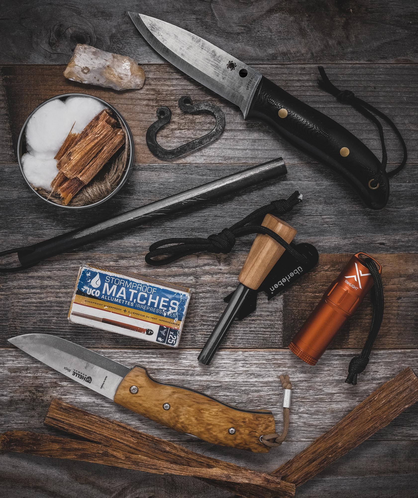 Bushcraft Fire Kit • Überleben, Exotac & UCO • Traditional